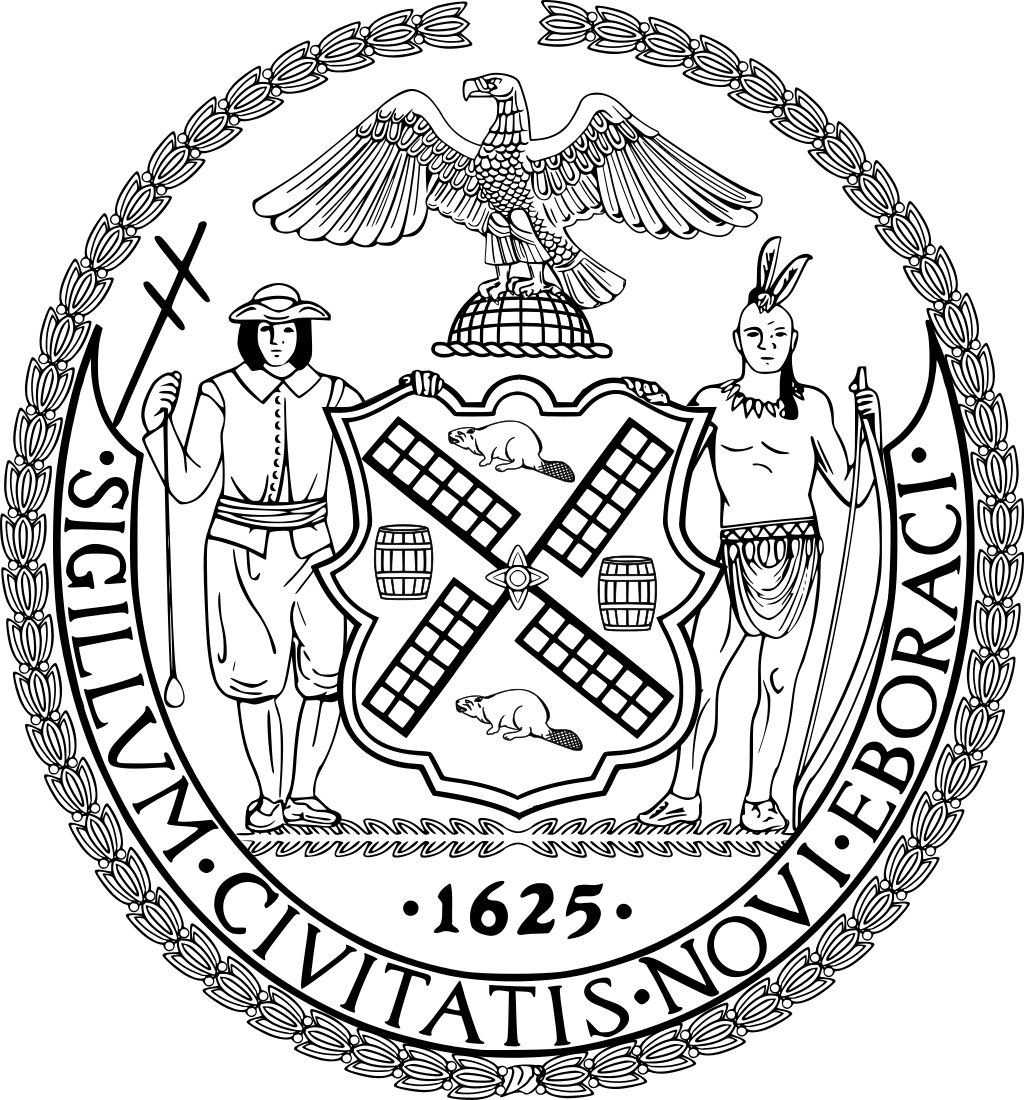 Seal of New York City BW