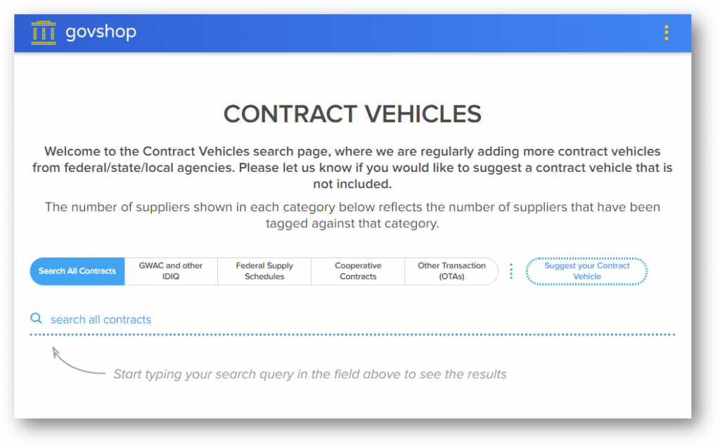 MRR - GovShop Contract Vehicle search