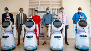 company showcases high tech robots
