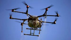 drone flies in sky