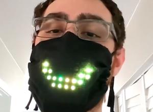 man wear black high tech face mask