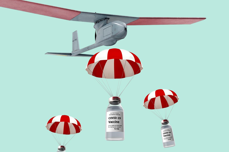 Drones Delivering Covid Vaccines