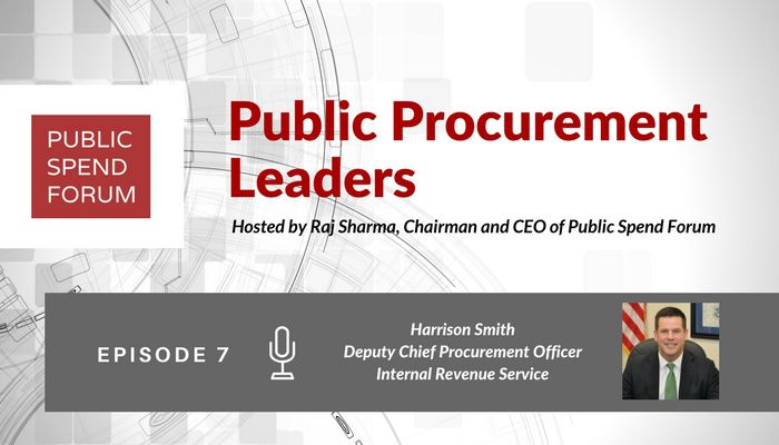 Harrison Smith on Episode 7 of the Public Procurement Leaders Podcast