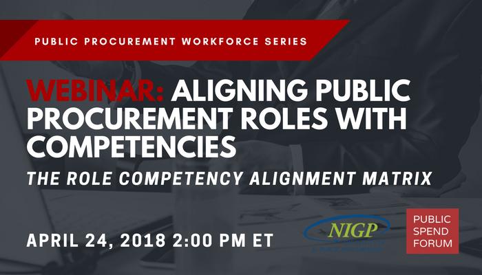 April 24 Webinar: Aligning Public Procurement Roles with Competencies