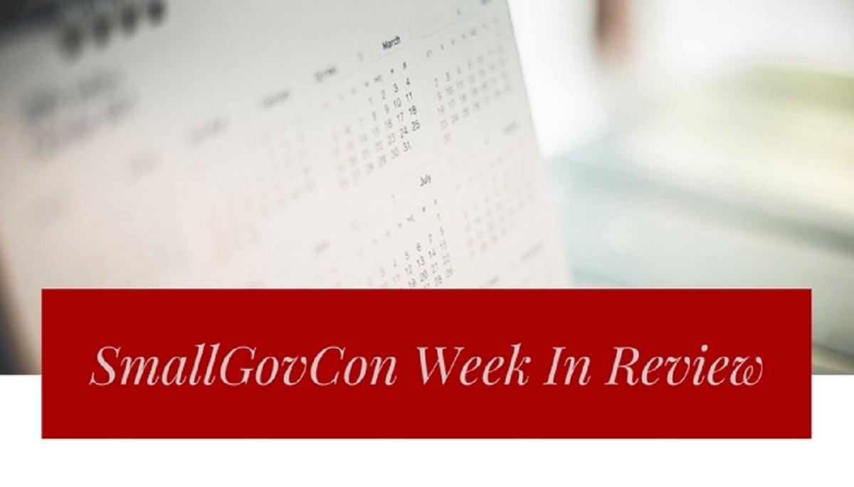 SmallGovCon Week In Review: October 30-November 3, 2017