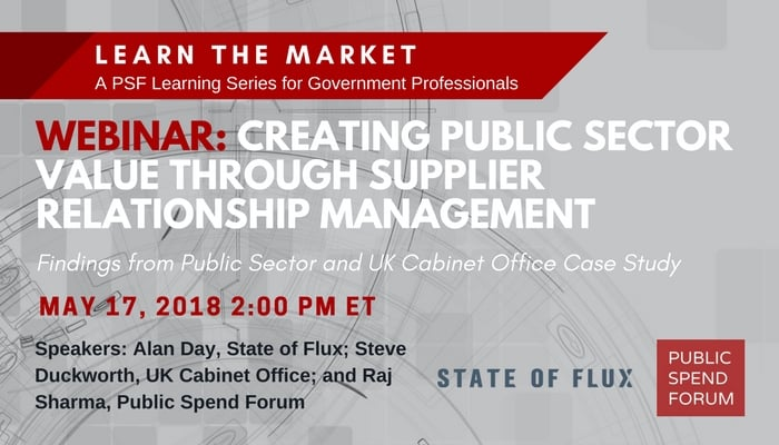 May 17 Webinar: Creating Public Sector Value Through Supplier Relationship Management