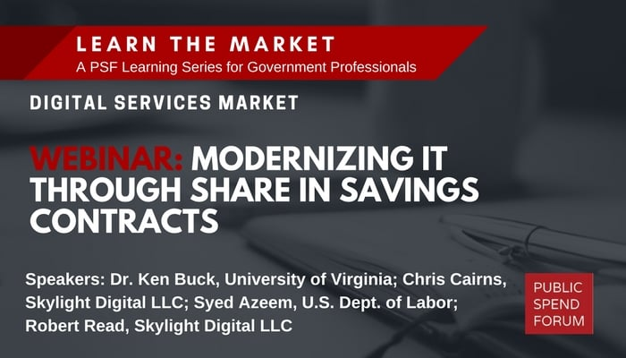 Webinar Recording: Modernizing IT Through Agile Share-in-Savings Contracts