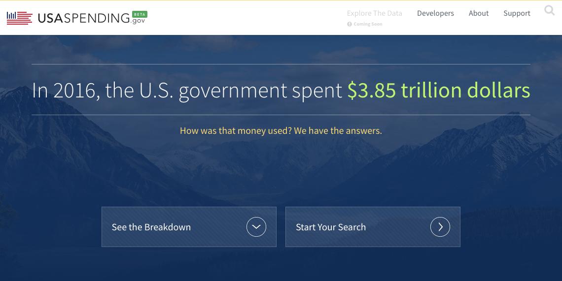 Treasury Releases Update to USASpending.gov