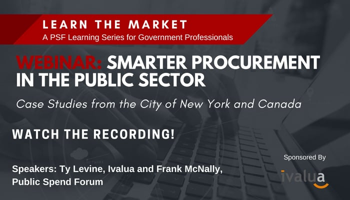 Recording and Recap: Smarter Procurement in the Public Sector